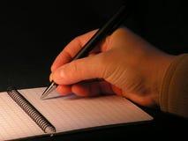 Het schrijven stock afbeeldingen