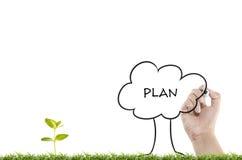 Het schrijven businessplan Stock Fotografie