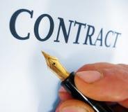 Het schrijven contract Royalty-vrije Stock Foto