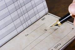 Het schrijven controle Stock Fotografie