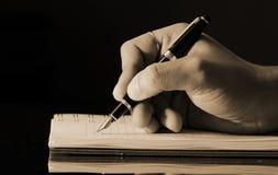 Het schrijven in een agenda