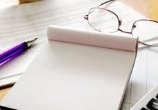 Het schrijven idee stock foto's