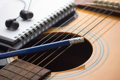 Het schrijven muziek Stock Afbeelding