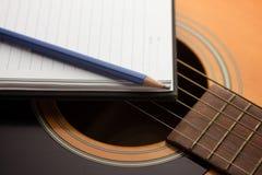 Het schrijven muziek Stock Foto's