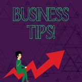 Het schrijven nota die Bedrijfsuiteinden tonen Bedrijfsfoto demonstratietrucs of ideeën op om een kleine onderneming te beginnen  vector illustratie