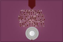 Het schrijven nota die Centraal Bedrijfsdistrict tonen Bedrijfsfoto commerciële demonstratie en commercieel centrum van een stad royalty-vrije illustratie