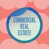 Het schrijven nota die Commercieel Real Estate tonen Bedrijfsfoto demonstratiebezit dat alleen voor zaken wordt gebruikt vector illustratie