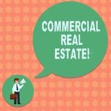 Het schrijven nota die Commercieel Real Estate tonen Bedrijfsfoto demonstratiebezit dat alleen voor zaken wordt gebruikt stock illustratie