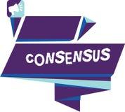 Het schrijven nota die Consensus tonen Bedrijfsfoto demonstratieconsensus over bijzondere onderworpen gebeurtenis of actie stock illustratie
