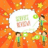 Het schrijven nota die de Dienstoverzicht tonen De bedrijfsfoto die een optie voor klanten demonstreren om een bedrijf s te schat vector illustratie