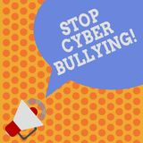 Het schrijven nota die de Intimidatie van Eindecyber tonen De bedrijfsfoto demonstratie verhindert gebruik van elektronische comm stock illustratie