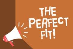 Het schrijven nota die de Perfecte Pasvorm tonen De stukken die van het bedrijfsfoto demonstratieraadsel Goed FL van het de Integ royalty-vrije illustratie