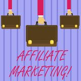 Het schrijven nota die Filiaal Marketing tonen De bedrijfsfoto demonstrerende arwhich detailhandelaar betaalt externe online comm stock illustratie