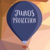 Het schrijven nota die Fondsenbescherming tonen De initiële investering van het de terugkeergedeelte van bedrijfsfoto demonstrati royalty-vrije illustratie