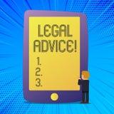Het schrijven nota die Juridisch Advies tonen Bedrijfsdiefoto demonstratieaanbevelingen door advocaat of van de wetsadviseur desk vector illustratie