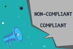 Het schrijven nota die niet Volgzame Volgzaam tonen Bedrijfsfoto demonstratie Bestand tegen de Regel in overeenstemming met Wet vector illustratie