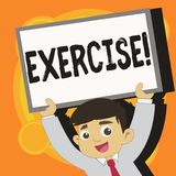 Het schrijven nota die Oefening tonen Bedrijfsfoto demonstratieactiviteit die fysieke inspanning vereisen die in spel Opleiding b stock illustratie