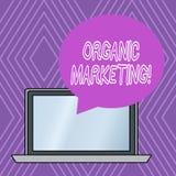 Het schrijven nota die Organische Marketing tonen Bedrijfsfoto die ertoe brengend uw klanten om aan u natuurlijk langs te komen d vector illustratie