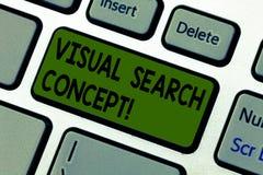 Het schrijven nota die Visueel zoekenconcept tonen Bedrijfsfoto die op waarneming gebaseerde taak demonstreren die aandacht voor  royalty-vrije stock foto's