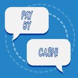 Het schrijven nota het tonen betaalt door Contant geld Bedrijfsfoto demonstrerende Klant die met geldmuntstukken rekeningen betal stock illustratie