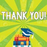 Het schrijven nota het tonen dankt u De Dankbaarheid van de de groeterkenning van de bedrijfsfoto demonstratieappreciatie stock illustratie