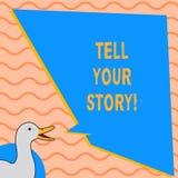 Het schrijven nota het tonen vertelt Uw Verhaal Bedrijfsfoto demonstrerend uitdrukkend uw gevoel Vertellend uw schrijven vector illustratie