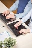 Het schrijven op computers Stock Foto