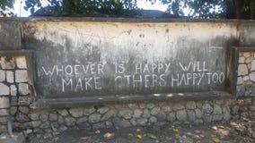 Het schrijven op concrete muur royalty-vrije stock foto