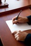 Het schrijven op papier Royalty-vrije Stock Foto's
