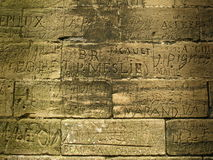 Het schrijven - Oude Graffiti Stock Foto