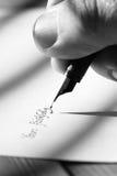 Het schrijven van brievenvulpen A Stock Foto's
