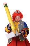 Het Schrijven van de clown Royalty-vrije Stock Afbeelding