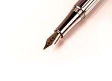 Het schrijven van de fontein pen Stock Afbeelding