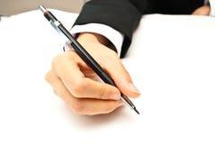 Het schrijven van de hand Stock Foto