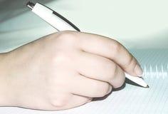 Het schrijven van de hand royalty-vrije stock afbeelding