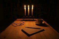 Het schrijven van de nacht Royalty-vrije Stock Afbeelding