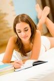 Het schrijven van de vrouw Royalty-vrije Stock Afbeeldingen