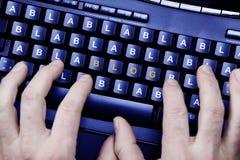 Het schrijven van een blog Stock Foto's