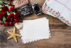 Het schrijven van een brief Stock Afbeeldingen