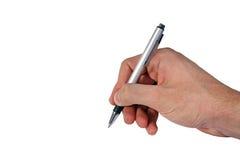 Het schrijven van hand Stock Foto