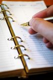 Het schrijven van notitieboekje Royalty-vrije Stock Foto's
