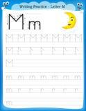 Het schrijven van praktijkbrief M Royalty-vrije Stock Afbeeldingen
