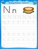 Het schrijven van praktijkbrief N Stock Fotografie