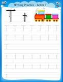 Het schrijven van praktijkbrief T Stock Afbeeldingen