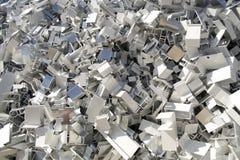 Het schroot van het aluminium Stock Foto