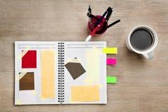Het schrootboek van de ontwerper Stock Fotografie