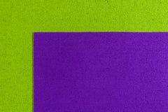 Het schuim donkere purple van Eva op appelgroen Stock Foto