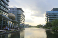 Het Science park is een science park in HK 2010 stock fotografie