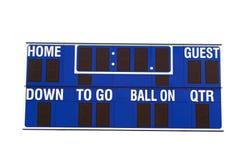 Het Scorebord van de voetbal Stock Foto's