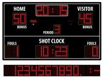 Het scorebord van het basketbal Stock Foto's
